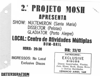 2º Projeto Mosh